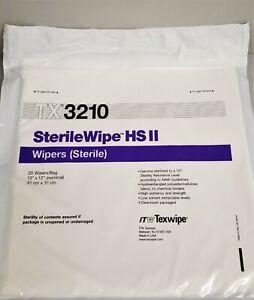 "ITW Texwipe SterilWipe HS II TX3210 Sterile Wipers - 12"" x 12""(Pack of 20 Wipes)"