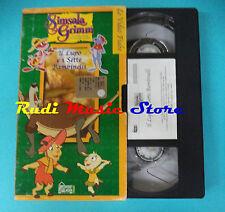 VHS film IL LUPO E I SETTE BAMBINELLI animazione SIMSALA GRIMM fiabe(F96) no dvd