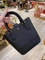 NWT Tory Burch Emerson North South Leather Crossbody Hand Bag Black 73163