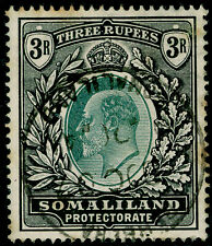 SOMALILAND PROTECTORATE SG43, 3r green & black, USED, CDS. Cat £130.