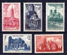 FRANCE 1947 National Relief Fund French Cathedrals - MNH - Cat £17.90 - (2)
