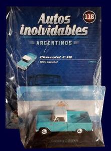 CHEVROLET C-10 (1965) Unforgettable Cars 1:43 Diecast # 116 - ARGENTINA
