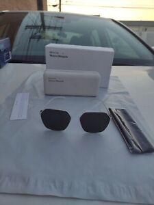 Mykita + Maison Margiela sunglasses white frame grey lenses