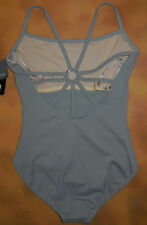 NWT Dance Bloch Grey Camisole Leotard Metal Ring Back Ladies Small Adult L5927