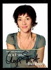 Anja Frank Rote Rosen Autogrammkarte Original Signiert # BC 96896
