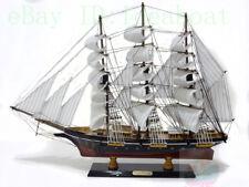 WOOD MODEL 62cm Length SAILING SHIP Sailing Boat Sailer Tall Ship Nautical decor