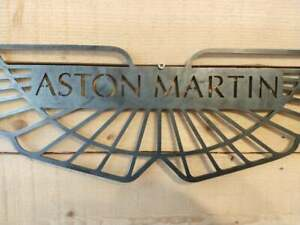 *Premium Aston Martin Car Logo Metal Sign Hand Finished Vintage Car Wall Art