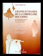 CHANTS et DANSES de LA CORDILLIERE DES ANDES - B.GARLEJ - Ed. Henri LEMOINE 1997