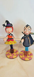 """Katherine's Collection Dracula & Funky witch Halloween 8"""" figurines"""