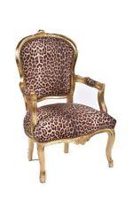 Poltrona Sedia LEOPARDATA zebrata tigrata legno foglia oro DIVANO