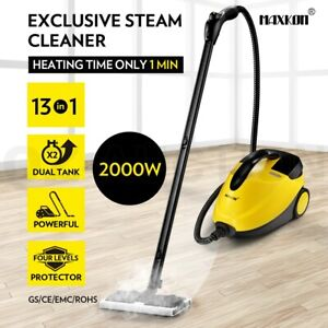Maxkon 13in1 Steam Mop Cleaner High Pressure Floor Carpet Cleaning w/Dual Tank
