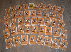 1971 MATTEL LONE RANGER CARTOON CARD GAME - COMPLETE HIGH GRADE w ADVERTISE CARD