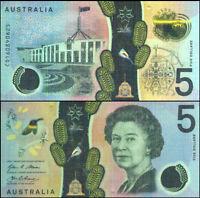 Australian Mint 1st QE2 $5 New Design 2016 Stevens&Fraser Polymer Banknote Issue