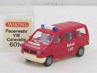 VW Bus Caravelle Einsatzwagen, OVP, Wiking, 1:87, Feuerwehr Notruf 112