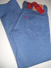 NWT 511 Levi's 32 x 30 2-Way Stretch Lower SLIM Straight Lake Blue Denim Jeans