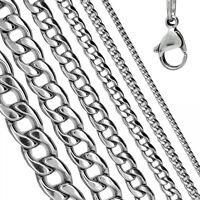 Eine Edelstahl Panzerkette Königskette Halskette Herren Edelstahl Herrenkette