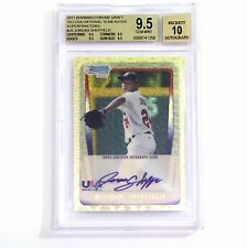 JORDAN SHEFFIELD 2011 Bowman Chrome SUPERFRACTOR Auto RC 1/1 BGS 9.5 2016 1st RD