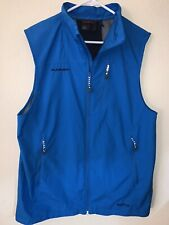 Men's XL Mammut Windstopper Full Zip Blue Vest, Good Condition