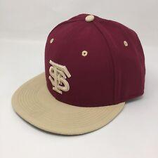 NIKE TRUE Sz 7 3/8 Florida State Seminoles DriFit Gold Baseball Hat Fitted 2A