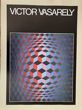 VICTOR VASARELY, RARE AUTHENTIC 1986 ART POSTER