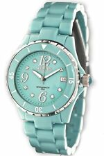 Haurex Italy Women's PT342DT1 Make UP Rotating Bezel Date Window Crystal Watch
