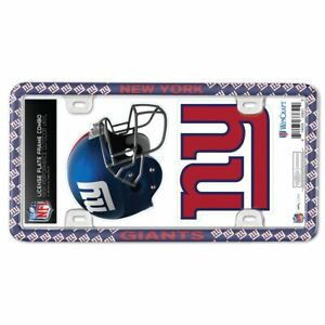 NEW YORK GIANTS THIN RIM LICENSE PLATE FRAME WITH 2 DECALS NEW WINCRAFT 🚗