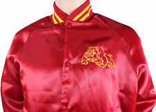 VTG 80s U.S. MARINES Snap Front JACKET Large L Red Made In USA! USMC Military
