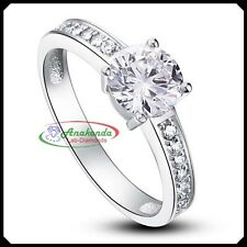 1.15Ct Solitare Accents Engagement Woman RING Synthetic Grown DIAMOND Silver 925