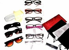 LOT 6 CLOSEOUT WOMEN READING GLASSES SET w 5 Soft Cases 1 Hard Case +1.25