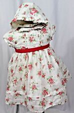 JANIE AND JACK baby girls 3-6 months vintage floral dress and bonnet