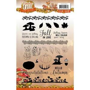 Fabulous Fall Clear Unmounted Rubber Stamp Set Yvonne Creations YCCS10041 New