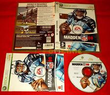 MADDEN NFL 08 XBOX 360 Versione Italiana 1ª Edizione ○ COMPLETO