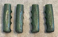 "1969 SCHWINN TWINN TANDEM HANDLEBAR GRIPS (4) 4 3/8"" CAMPUS GREEN GLITTER"