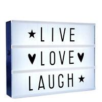 LED Light Box, Leuchtkasten zum Selbstgestalten, Sprüche Lightbox