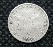 1854 Three Cent (Silver) | VERY GOOD | Take A Look!