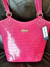 Duck Head Pink Purse Shoulder Bag Pocket Book NWT Vinyl W/ Key Chain Very Nice