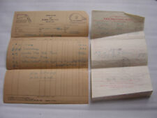 Antique scarce Original  Burke and AG Splading 1929 golf clubs receipts
