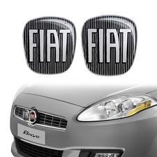 Adesivo Fiat 3D Ricambio Logo Nero per Bravo Anteriore + Posteriore