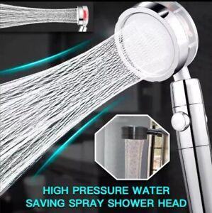 High-Pressure Shower Head 360 Rotated Water Saving Hand Spray Luxury Bathroom In