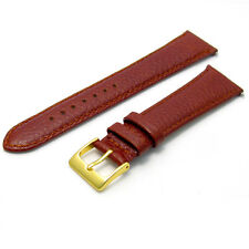 Padded Denver 20mm Tan Watch Strap Band Leather g D009