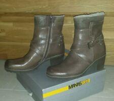 MANAS DESIGN Echtleder Stiefeletten Gr.41 Braun Winter Stiefel Boots Gefüttert