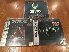 Lot of 3 Japanese Laserdiscs  Alien 1979 Aliens 1986 Alien 3 1992