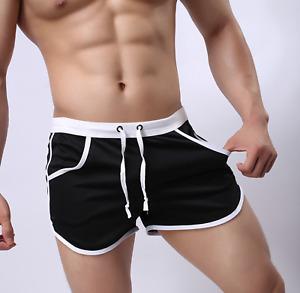 Men's Gym Shorts | Resort Swimwear | Swim Trunks | Running | Boxer Briefs Pouch