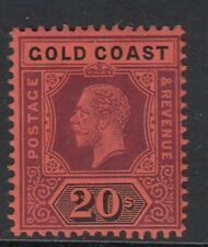 SG84 Gold Coast 20/- purple & black/red -Lightly mounted mint