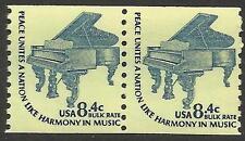 Scott 1615c US Stamp 1978 8.4c Grand Piano Americana Coil Pair