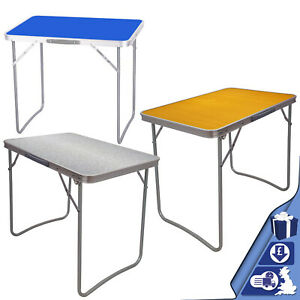 MDF PORTABLE  INDOOR OUTDOOR WOODEN FOLDING DINING TABLE CAMPING PICNIC PARTY