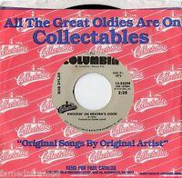 "BOB DYLAN - KNOCKIN' ON HEAVEN'S DOOR - 7"" 45 VINYL RECORD"