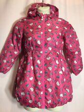 Hello Kitty Size Unknown Kid Girls Pink Blue Butterfly Hood Rain Jacket Coat V23