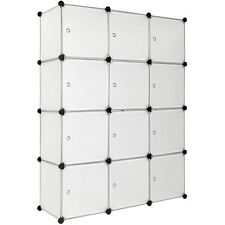 Estantería de plastico modular armario cuadrados ropero organizador baño