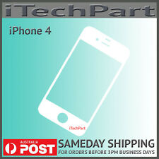 Front Screen Glass Lens Replacement Part For iPhone 4 White